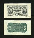 Fractional Currency:Third Issue, Fr. 1274SP 15c Wide Margin Specimen Pair Third Issue About New. This is a beautiful wide margin specimen pair with the scarc...