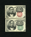 Fractional Currency:Fifth Issue, Fr. 1264 10c Fifth Issue New.. Fr. 1266 10c Fifth Issue New.. The1266 has several pinholes including one in contact wit... (Total: 2notes)
