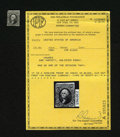 "Fractional Currency:Fifth Issue, 5¢ Proof ""Stamp"". This is a stamp-sized cut-out of the 10¢ FirstIssue Essay Printing done in black on white india paper (Mi..."