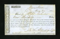 Confederate Notes:Group Lots, Winnsboro, (SC) 1862 Bond Receipt. An approximate one inch tear isnoticed at top center. Fine....
