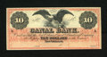 Obsoletes By State:Louisiana, New Orleans, LA- Canal Bank $10 18__. A small moisture spot and two stamp hinges are found on this About Uncirculated $1...
