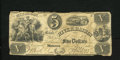 Obsoletes By State:Michigan, Monroe, MI- Bank of River Raisin $5 Mar. 4, 1843. Some edge furling is noticed on this Very Good $5....