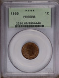 Proof Indian Cents: , 1866 1C PR65 Red and Brown PCGS. PCGS Population (42/5). NGC Census: (36/9). Mintage: 725. Numismedia Wsl. Price: $875. (#2...