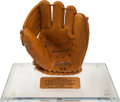 Baseball Collectibles:Others, 1995 Mickey Mantle Rawlings Presentation Funeral Glove - Presentedto Hank Bauer....