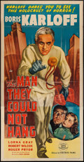 """Movie Posters:Horror, The Man They Could Not Hang (Favorite Films, R-1947). Three Sheet (41"""" X 79""""). Horror.. ..."""