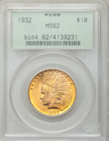 Indian Eagles: , 1932 $10 MS62 PCGS. PCGS Population (13459/29234). NGC Census:(15674/38591). Mintage: 4,463,000. Numismedia Wsl. Price for...