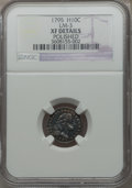 Early Half Dimes, 1795 H10C -- Polished -- NGC Details. XF. V-2, LM-3, R.5....
