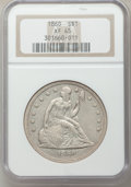 Seated Dollars: , 1860 $1 XF45 NGC. NGC Census: (8/92). PCGS Population (16/133).Mintage: 217,600. Numismedia Wsl. Price for problem free NG...