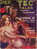 Pulps:Detective, Pep Tec Tales - September '37 (H. M. Publishing Co., 1937)Condition: VG/FN....