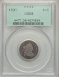 Early Dimes, 1801 10C VG8 PCGS. JR-1, R.4....