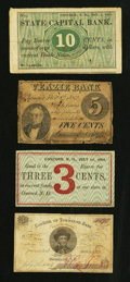 Obsoletes By State:Mixed States, Group of Maine and New Hampshire scrip notes. Four Examples. Very Good and better.. ... (Total: 4 notes)