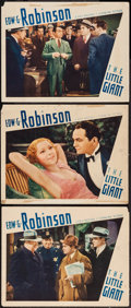 "Movie Posters:Crime, The Little Giant (First National, 1933). Lobby Cards (3) (11"" X14""). Crime.. ... (Total: 3 Items)"