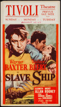 "Movie Posters:Adventure, Slave Ship (20th Century Fox, 1937). Midget Window Card (14"" X22""). Adventure.. ..."