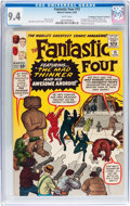 Silver Age (1956-1969):Superhero, Fantastic Four #15 Don/Maggie Thompson Collection pedigree (Marvel,1963) CGC NM 9.4 White pages....