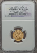 Classic Quarter Eagles, 1839-O $2 1/2 -- Improperly Cleaned -- NGC Details. AU. Breen-6153,Variety 28, R.4....