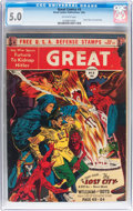 Golden Age (1938-1955):Science Fiction, Great Comics #3 (Great Comics Publications, 1942) CGC VG/FN 5.0Off-white pages....