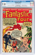 Silver Age (1956-1969):Superhero, Fantastic Four #6 (Marvel, 1962) CGC FN/VF 7.0 Off-white to white pages....
