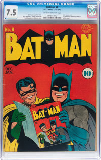 Batman #8 (DC, 1942) CGC VF- 7.5 Cream to off-white pages