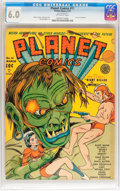 Golden Age (1938-1955):Science Fiction, Planet Comics #11 (Fiction House, 1941) CGC FN 6.0 Off-whitepages....