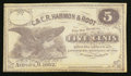 Obsoletes By State:Ohio, Aurora, OH- C. & C.R. Harmon & Root 5¢ 1862 Remainder Wolka0107-01. ...