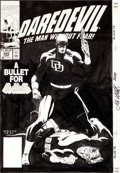 Original Comic Art:Covers, Lee Weeks Daredevil #293 Cover Original Art (Marvel,1991)....