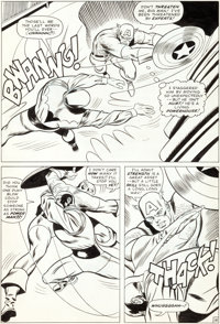 Don Heck and Wally Wood The Avengers #22 Power Man vs. Captain America page 14 Original Art (Marvel, 1965)
