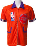 Basketball Collectibles:Uniforms, Early 1980's Larry Nance Game Worn Phoenix Suns Warm Up Jacket....