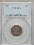 Early Dimes, 1807 10C Fine 12 PCGS. JR-1, R.2....