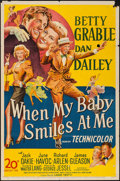 "Movie Posters:Musical, When My Baby Smiles at Me (20th Century Fox, 1948). One Sheet (27""X 41""). Musical.. ..."