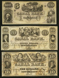 Obsoletes By State:Louisiana, New Orleans, LA- The New Orleans Canal & Banking Company $10; $20; $100 Remainders G22a; G34a; G60a . ... (Total: 3 notes)
