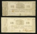 Obsoletes By State:Louisiana, Shreveport, LA- The State of Louisiana 50¢ (2) Mar. 1, 1864 Cr. 20. ... (Total: 2 notes)