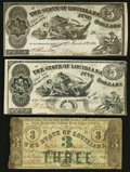 Obsoletes By State:Louisiana, Baton Rouge / Shreveport, Louisiana- The State of Louisiana $3; $5 (2) 1862-63 Cr. 4; Cr. 10; Cr. 14. ... (Total: 3 notes)