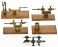 Timepieces:Other , Four Antique Watchmakers Tools. ... (Total: 5 Items)