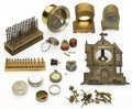 Timepieces:Other , Assorted Antique Watch/Clock Lot. ... (Total: 16 Items)