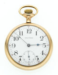 Timepieces:Pocket (post 1900), Waltham 23 Jewel Open Face Pocket Watch . ...