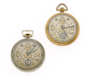 Timepieces:Pocket (post 1900), Two Elgin's Masonic Open Face Pocket Watches Runners. ... (Total: 2Items)