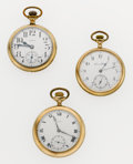 Timepieces:Pocket (post 1900), A Lot Of Three Open Face Pocket Watches Runners. ... (Total: 3Items)