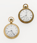 Timepieces:Pocket (post 1900), Elgin & Waltham 18 Size Pocket Watches. ... (Total: 2 Items)