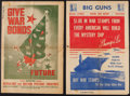 "Movie Posters:War, World War II Document Lot (U.S. Government Printing Office,1942-1946). Documents (16) (6"" X 8"" to 13"" X 21""). War.. ...(Total: 16 Items)"