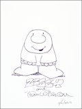 Mainstream Illustration, Tom Wilson. Doodle for Hunger, 2010. Ink. 9 x 12 in..Signed. Benefiting St. Francis Food Pantries and Shelters....