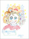 Mainstream Illustration, Shannon Stirweis. Doodle for Hunger, 2011. Crayon. 9 x 12in.. Signed. Benefiting St. Francis Food Pantries andShel...