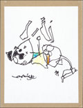 Mainstream Illustration, Mark English. Doodle for Hunger. Ink and crayon. 8.5 x 11in.. Signed. Benefiting St. Francis Food Pantries andShel...