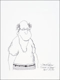 Mainstream Illustration, John McPherson. Doodle for Hunger. Ink. 9 x 12 in.. Signed.Benefiting St. Francis Food Pantries and Shelters. ...