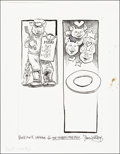 Mainstream Illustration, Steven Kellogg. Doodle for Hunger. Ink and Pencil. 8.5 x 11in.. Signed. Benefiting St. Francis Food Pantries and Sh...