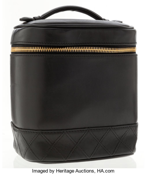 7c2a7e5f4052 Chanel Black Lambskin Leather Cosmetic Bag. ... Luxury Accessories ...