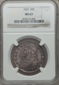Bust Half Dollars, 1829 50C Small Letters MS63 NGC. O-103, R.1....