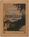 Books:Music & Sheet Music, [Music]. Ernest Kaai (1881-1961). Kaai's Method and Solos for Ukulele or Tiple. Chicago: Chart Music Publishing Hous...