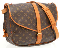 Louis Vuitton Classic Monogram Canvas Saumur GM Messenger Bag