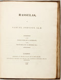 Books:Literature Pre-1900, Samuel Johnson. Rasselas. London: Hector M'Lean, 1819.Engravings by Abraham Raimbach, after Robert Smirke. Quarter ...