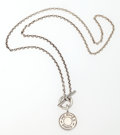 Luxury Accessories:Accessories, Hermes Sterling Silver Clou de Selle Pendant Necklace. ...